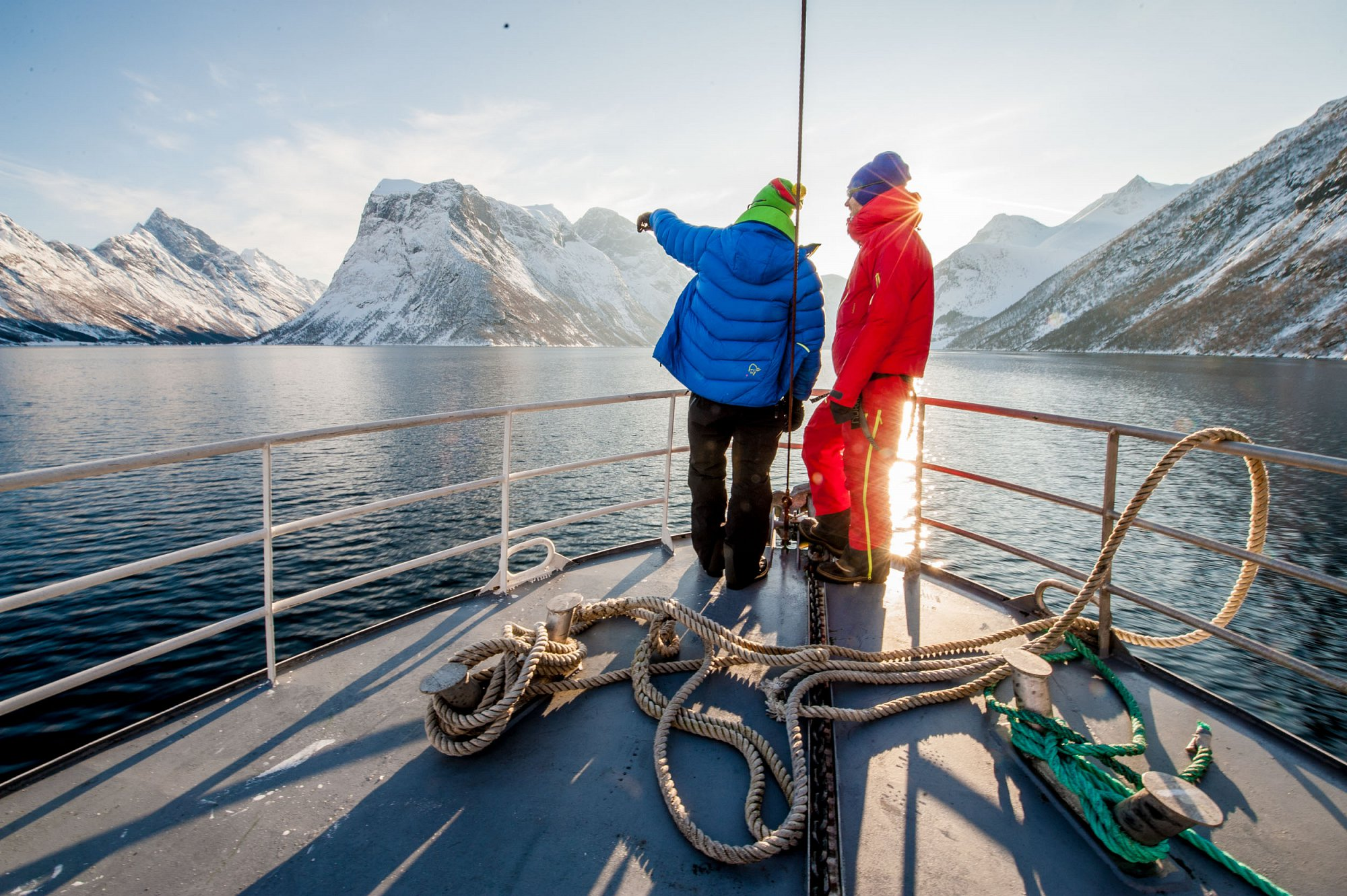 Tor and Eivind enjoying life on the fjord.